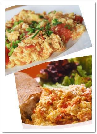 Scrambled eggs with tomatoes recipe picture