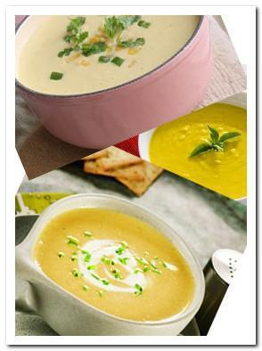 Creamy corn soup picture