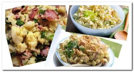 Potato egg salad picture