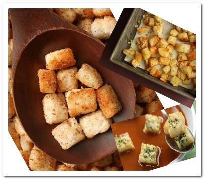 Easy croutons recipe picture