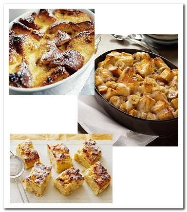 Bread pudding recipe picture